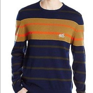Ecko UNLTD Men's Stripe Crew Yarn Sweater Size L